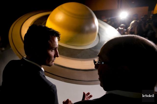 Justin Trudeau a visité le Cosmodome de Laval,... (Photothèque Le Soleil)