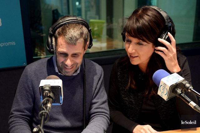 Éric Duhaime et Nathalie Normandeau, animateurs au FM93... (Photothèque Le Soleil, Erick Labbé)