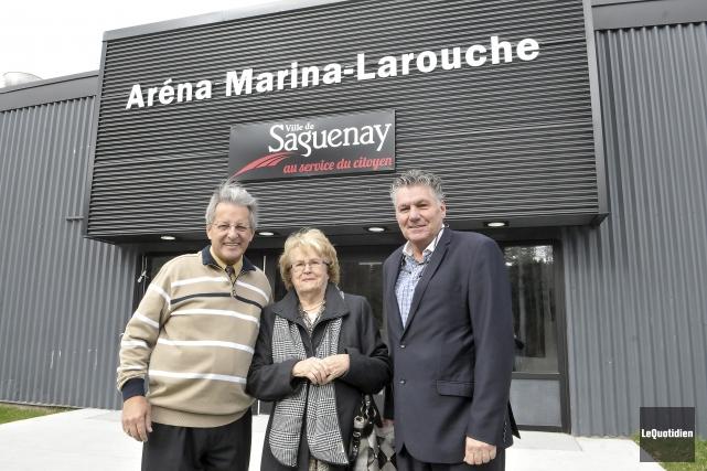 Marina Larouche a été honorée lors d'une cérémonie,... (Photo Le Quotidien, Rocket Lavoie)