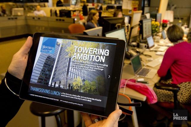 Postmedia avait lancé une première édition numérique du... (Robert Skinner, La Presse)