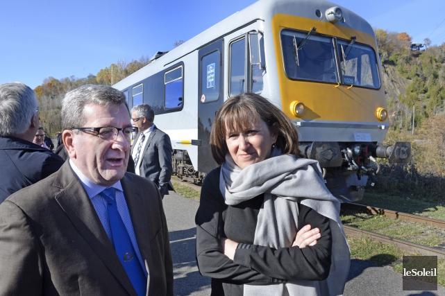 Le maire de Québec, Régis Labeaume, et la... (Le Soleil, Jean-Marie Villeneuve)