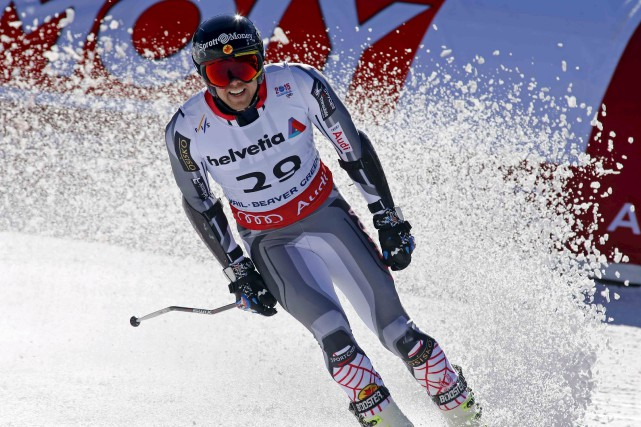 Dustin Cook, le vice-champion du monde en super-G,... (Agence France-Presse)