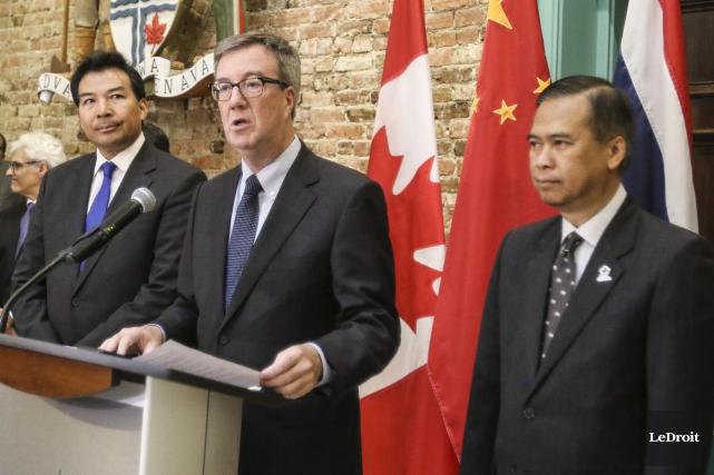 Le maire d'Ottawa, Jim Watson, a annoncé son... (Patrick Woodbury, LeDroit)