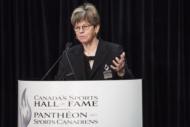 Jocelyn Bourassa a été intronisée au Panthéon mercredi,... (La Presse Canadienne)