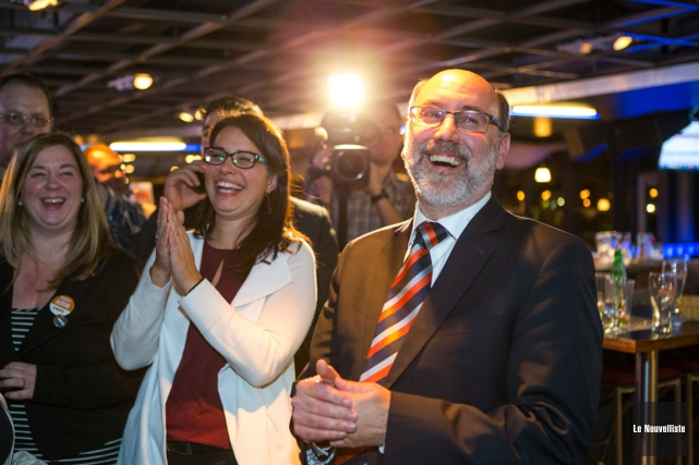 Robert Aubin, réélu dans Trois-Rivieres lundi, est très... (Olivier Croteau, Le Nouvelliste)