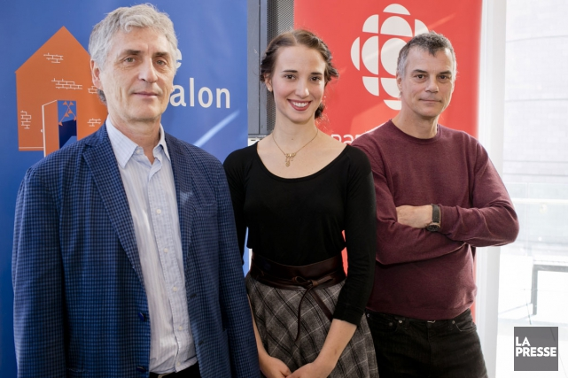 Larry Tremblay, Audrée Wilhelmy et Gilles Laporte font... (PHOTO DAVID BOILY, LA PRESSE)