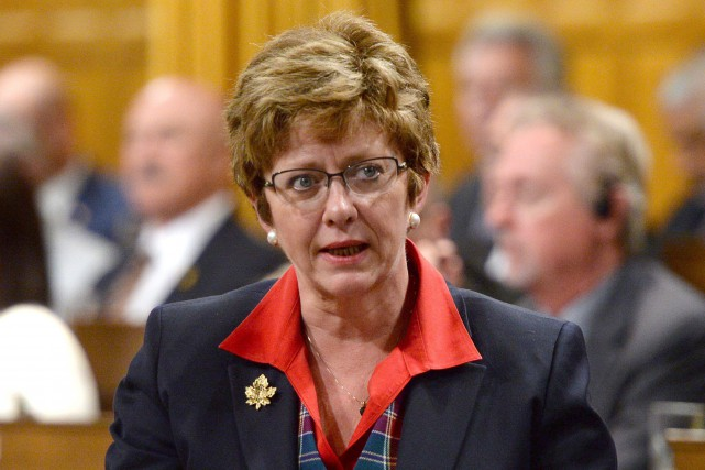 Le nom de l'ancienne ministre Diane Finley est... (PHOTO ARCHIVES LA PRESSE CANADIENNE)