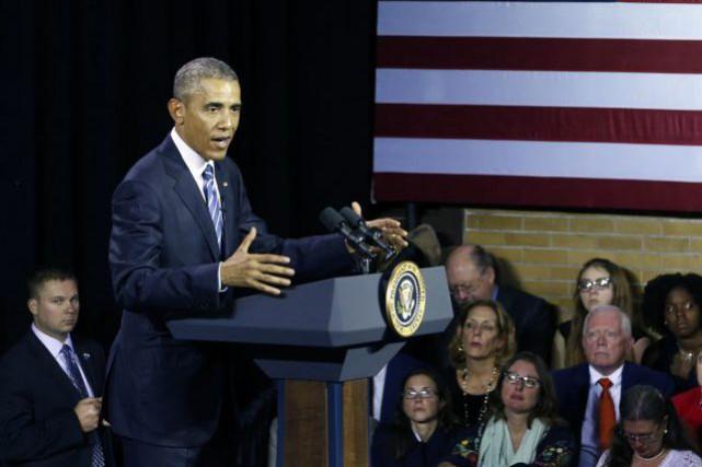 Le président américain, qui a signé son veto... (Photo AP)