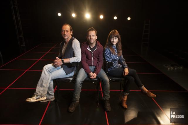Le metteur en scène Marc Beaupré (au centre)... (Archives La Presse)