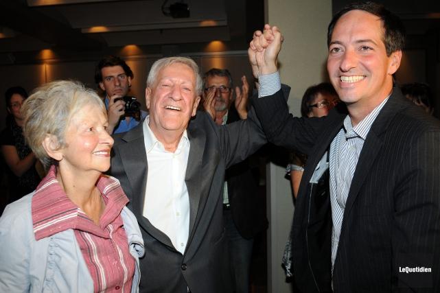 Lors de sa réélection, le 4 septembre 2012,... (Archives Le Quotidien, Rocket Lavoie)