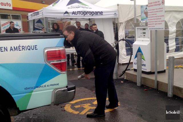 Une nouvelle station libre-service d'Alliance AutoPropane est ouverte... (Photo Le Soleil, Yves Therrien)