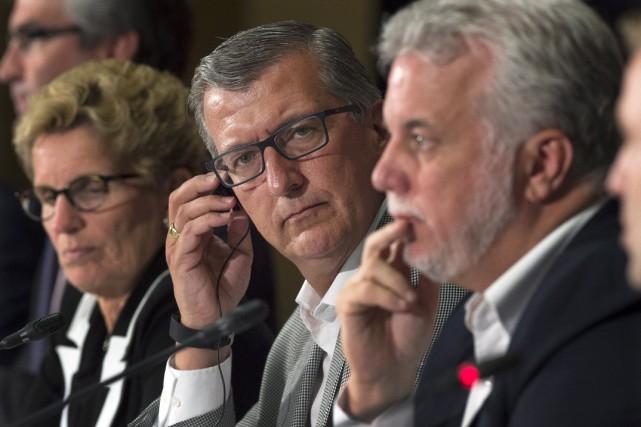 Les premiers ministres provinciaux ont participé à une... (PHOTO ANDREW VAUGHAN, ARCHIVES LA PRESSE CANADIENNE)