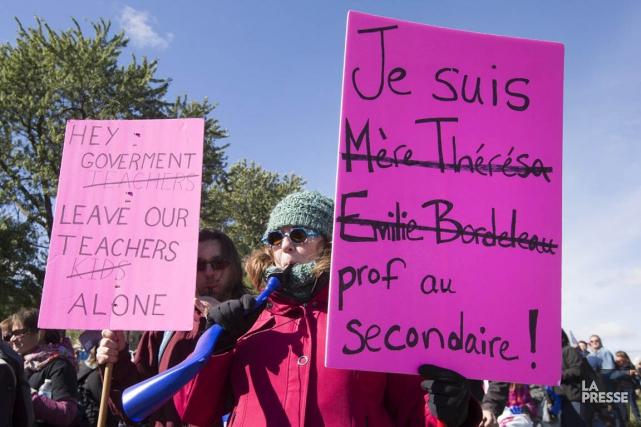 Pendant que les enseignants seront en grève, le... (La Presse)