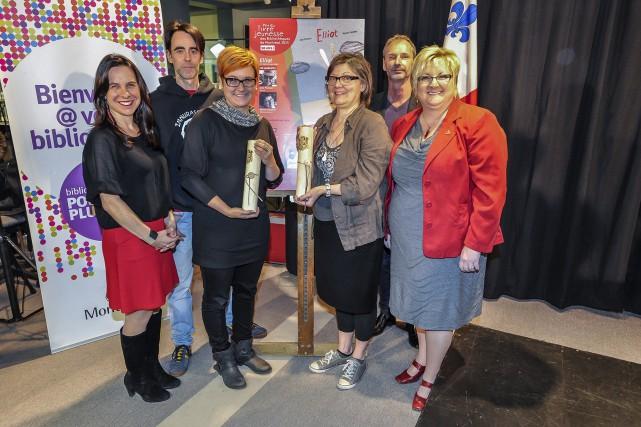 Le jury du Prix du livre jeunesse des... (Photo Denis Labine, Ville de Montréal)