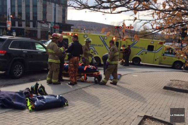 Deux personnes ont été légèrement blessées, sur l'heure du midi jeudi, lorsque... (La Tribune, Alain Goupil)