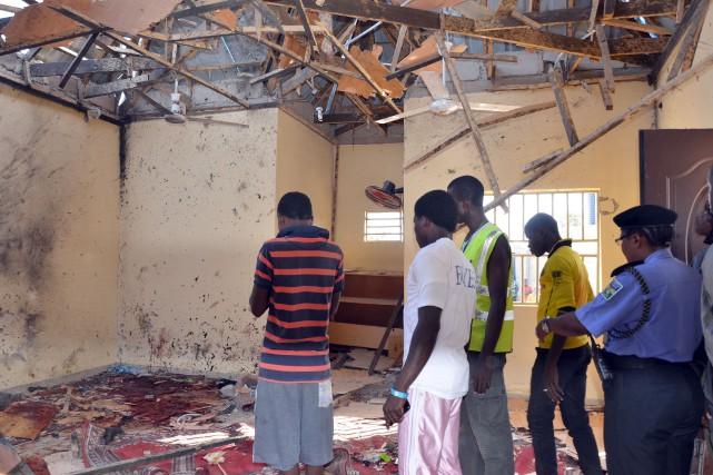 L'explosion s'est produite au moment de la prière... (PHOTO AFP)