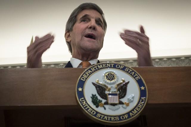 Le secrétaire d'État américain, John Kerry... (PHOTO AFP)