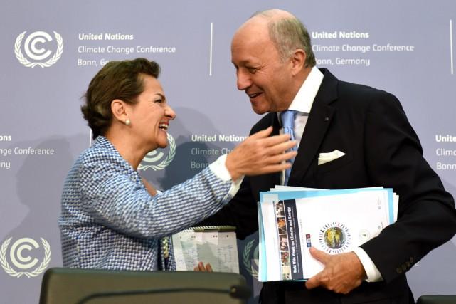 La secrétaire de la Convention des Nations unies... (PHOTO)