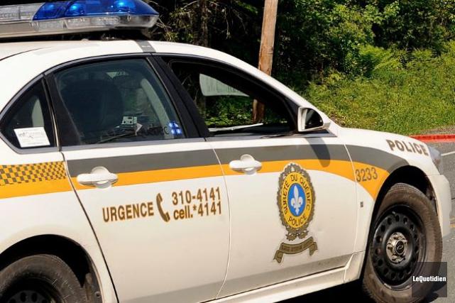La Sûreté du Québec recherche actuellement trois individus... ((Archives Le Quotidien))