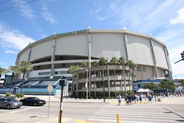 Le Tropicana Field... (Photo archives AP)