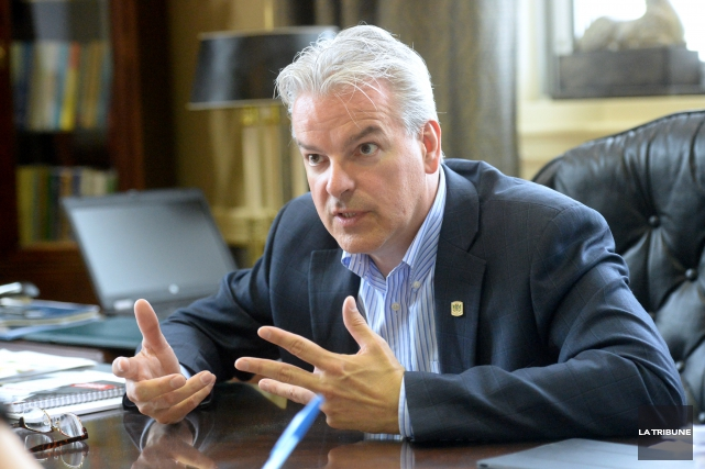 Le maire de Sherbrooke, Bernard Sévigny, de même... (Archives La Tribune)