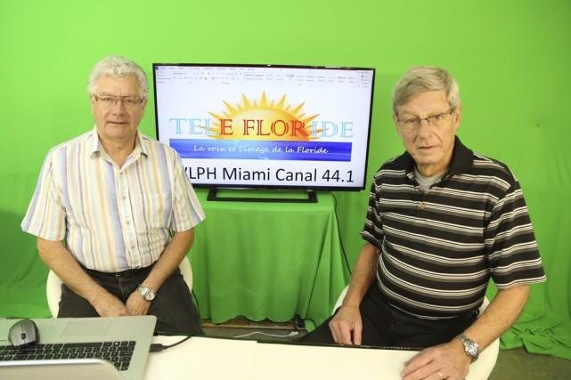 Dominique Delbast et Robert Leblond préparent le lancement... (photo Janick Marois)