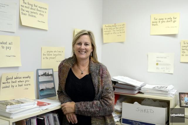 La professeure Natalie Rublik se spécialise dans la... (Photo Le Quotidien, Jeannot Lévesque)