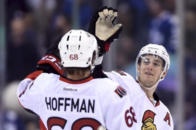 Mike Hoffman est placé sur la liste des... (Frank Gunn, Archives La Presse Canadienne)