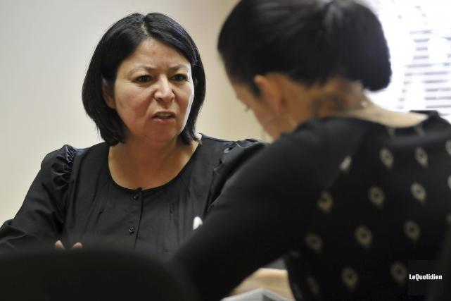La vice-chef aux relations extérieures de Mashteuiatsh, Marjolaine... (Photo Le Quotidien, Rocket Lavoie)