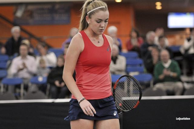 La jeune Charlotte Robillard-Millette a bien tenté de... (Photo Le Quotidien, Rocket Lavoie)