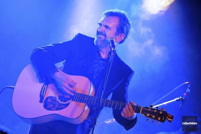 Pierre Flynn était de passage au Café-Théâtre Côté-Cour,... (Photo Le Quotidien, Rocket Lavoie)