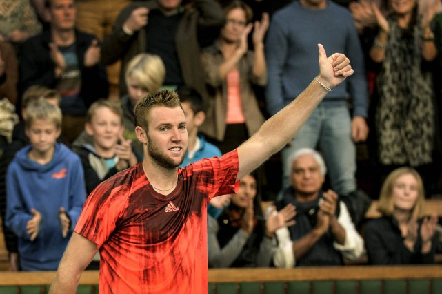 Jack Sock... (Photo Anders Wiklund, Reuters)
