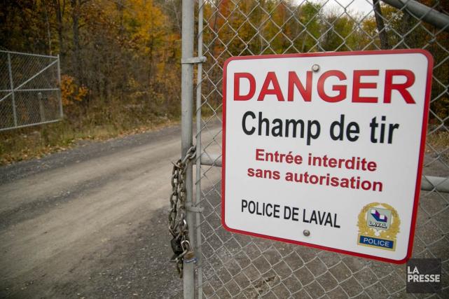 Les policiers du SPVM s'exercent dans les installations... (Photo David Boily, La Presse)