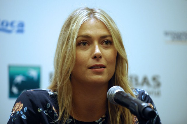 Maria Sharapova... (PHOTO MOHD FYROL, AFP)