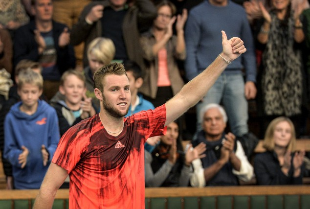 Jack Sock... (Photo Anders Wiklund, AP)