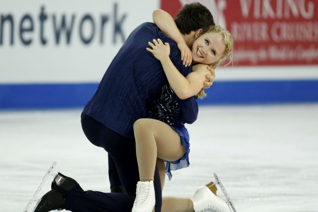 Charlie Bilodeau et Julianne Séguin... (Photo Lucy Nicholson, Reuters)
