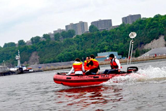Excursions Maritimes Québec possède deux bateaux-taxis et offre... (Photo tirée du site d'Excursions Maritimes Québec)