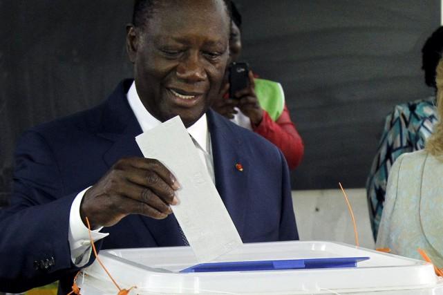 Le président sortant de la Côte d'Ivoire,Alassane Ouattara.... (Photo Luc Gnago, Reuters)