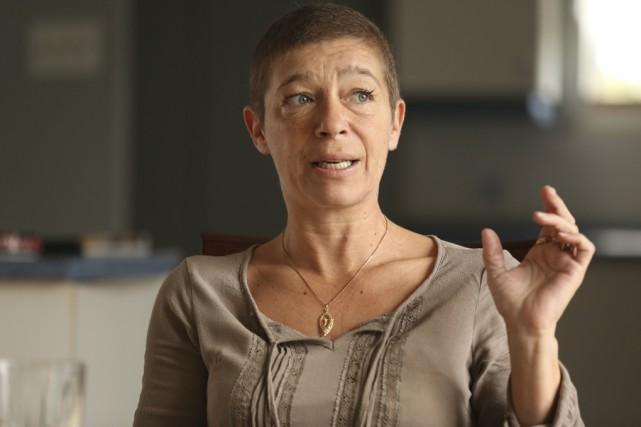 Brigitte Beaudoin aimerait que le traitement de chimioembolisation... (photo Catherine Trudeau)