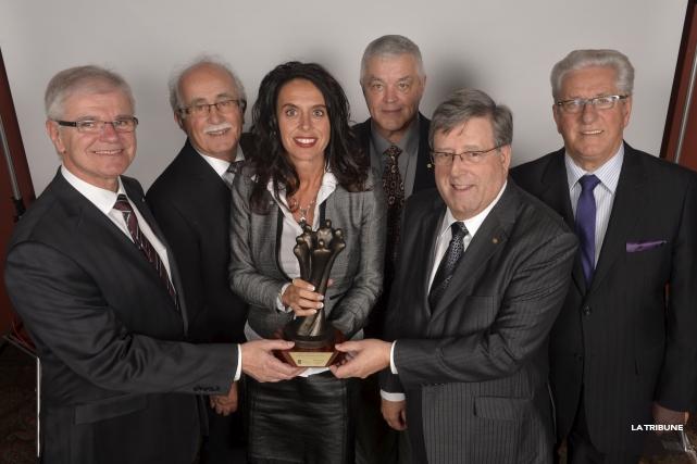 Les Caisses Desjardins de Sherbrooke ont remporté le... (Imacom, Maxime Picard)