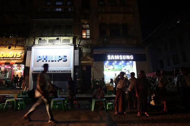 Un magasin de Philips, en Birmanie.... (Photo Dario Pignatelli, archives Bloomberg)