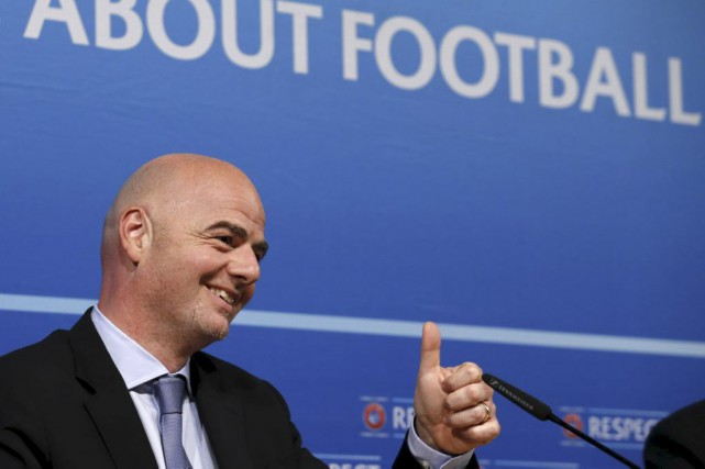 Gianni Infantino... (PHOTO DENIS BALIBOUSE, ARCHIVES REUTERS)
