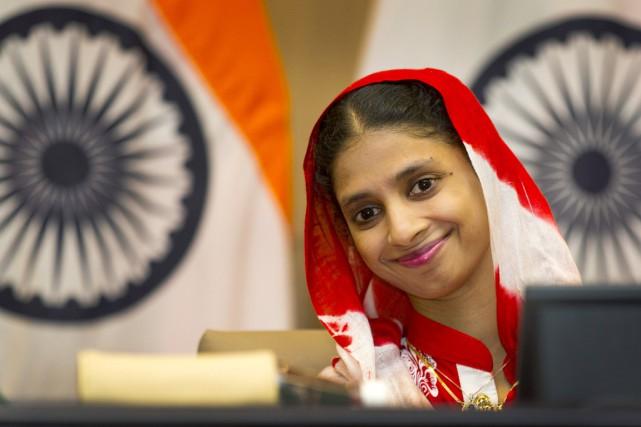 La jeune femme, baptisée Geeta par ceux qui... (PHOTO MANISH SWARUP, AP)