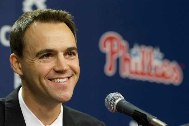 Matt Klentak... (PHOTO MATT ROURKE, ASSOCIATED PRESS)