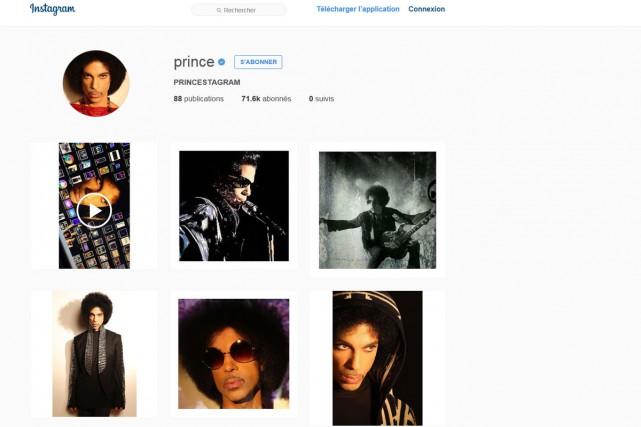 Le chanteur américain Prince, qui avait boudé un temps les réseaux sociaux,... (CAPTURE D'ÉCRAN)