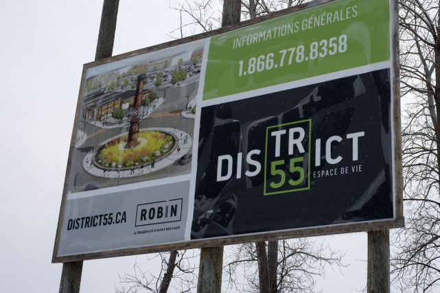 Le District 55 près du pont Laviolette.... (Stéphane Lessard)