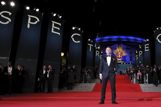 Daniel Craig, lors de la première deSpectreà Londres.... (Leon Neal, AFP)