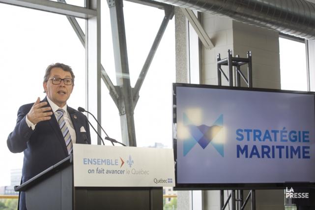 Le ministre responsable de la Stratégie maritime, Jean... (Archives La Presse)