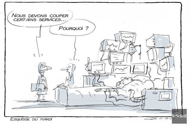 Caricature du 27 octobre 2015... (Le Soleil, André-Philippe Côté)