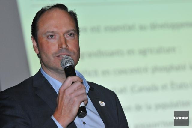 Jean-Sébastien David, vice-président à l'exploitation chez Arianne Phosphate,... (Archives Le Quotidien, Michel Tremblay)